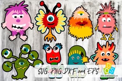Monster Bundle SVG, PNG, DXF and EPS file