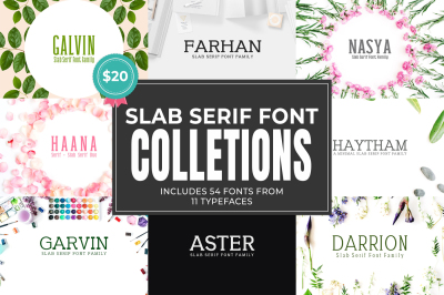 Glorious Slab Serif Font Bundle