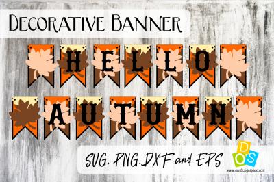 Hello Autumn Party Banner