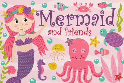 mermaid and friends set