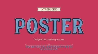 Poster vector typeface.For labels and different type designs