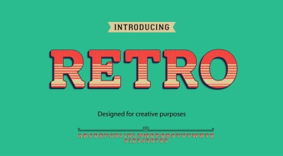 Retro vector typeface.For labels and different type designs