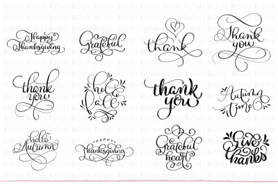 Thank You Printable Clipart Set