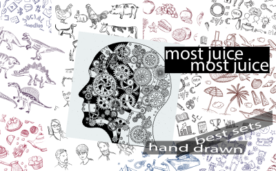 Most juice! The best sets of hand-drawn items