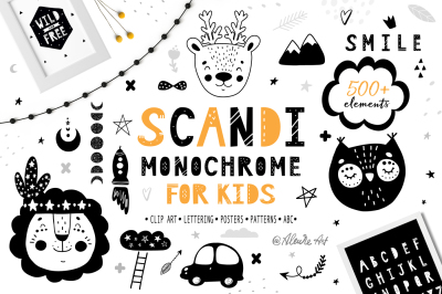Scandi Monochrome for kids