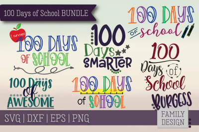 Mini Bundle | 100 Days of School | Cut files