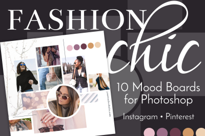 Mood Board Templates | Fashion Chic