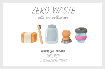 Zero waste clip art collection