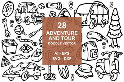 28 Adventure doodles