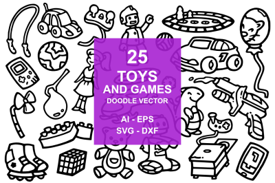 25 Toys and Game Doodles
