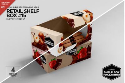 Retail Shelf Box Packaging Mockup 15