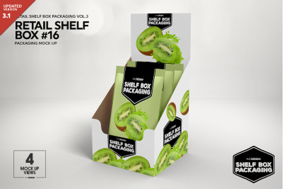 Retail Shelf Box Packaging Mockup  16