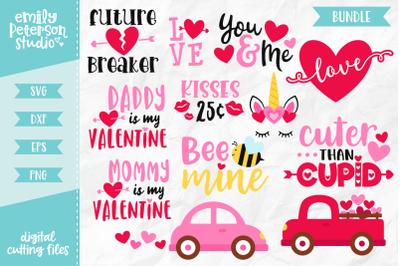 Valentine's Day Bundle SVG DXF - 12 Designs