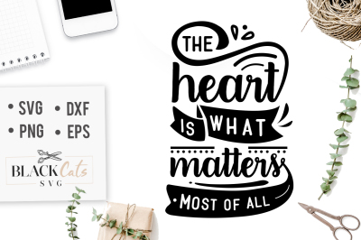 The heart is what matters most of all SVG