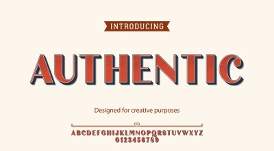 Authentic vector typeface. For creative purposes