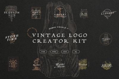 Vintage Logo Creator Kit