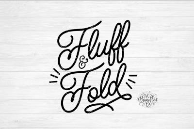 Fluff & Fold Laundry SVG DXF PNG EPS