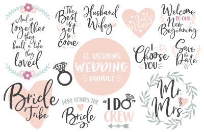 Wedding Bundle SVG DXF PNG EPS