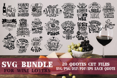 Wine bundle SVG