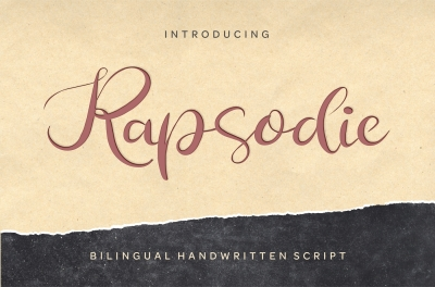 Rapsodie - Multilingual Script With English and Russian Letters