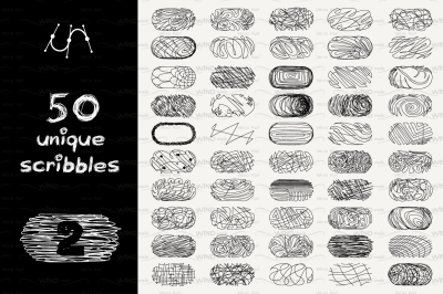 vector SET 100 SCRIBBLES Part 1,2 - rounded rectangle