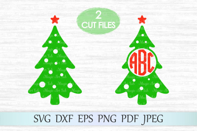 Christmas monogram svg, Christmas tree svg, Christmas tree monogram