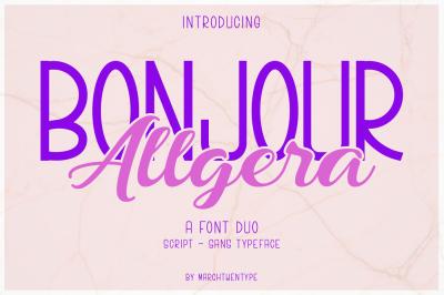 Bonjour Allgera - Font Duo