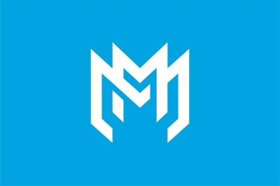 MM monogram logo template