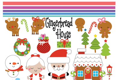 Gingerbread House SVG, Gingerbread House Clipart