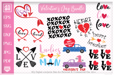 Valentine's day bundle SVG, Valentine's day designs Bundle