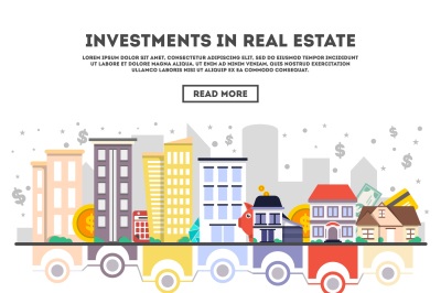 Investments in real estate vector illustration.