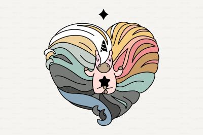 vector Cute scandi unicorn