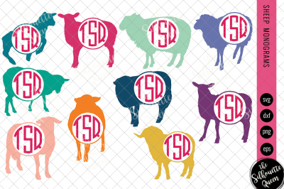 Sheep Svg, Monogram Svg, Circle Frames, Cuttable Design, Cut files, Si