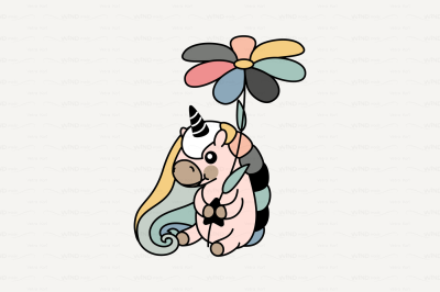 vector Cute scandi unicorn