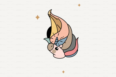 vector Cute scandi unicorn head