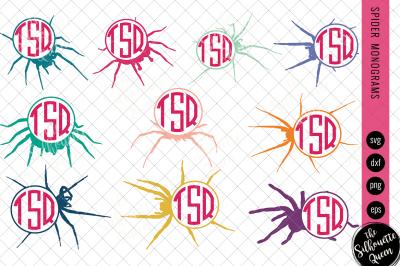 Spider Svg, Monogram Svg, Circle Frames, Cuttable Design, Cut files, S