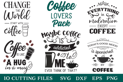 Coffee Lovers Pack - Coffee Quotes - Limited Promotion