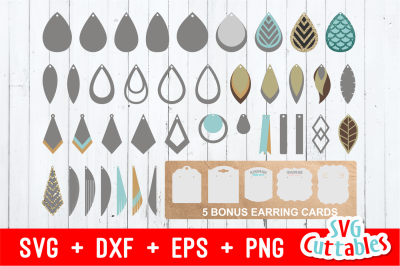 Earring Bundle | SVG Cut File