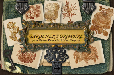 Gardener's Grimoire Floral Herb Graphics