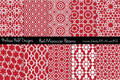 Moroccan Patterns: Red