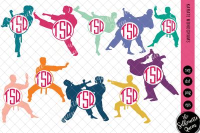 Karate Svg Karate Monogram, Circle Frames, Cuttable Design, Cut files,