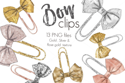 Bow Clips Planner Stickers
