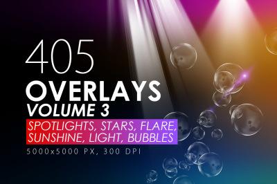 405 Light Rays, Leak, Flare Overlays