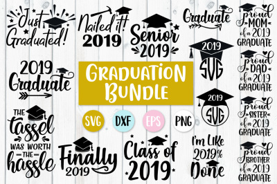 Graduation Bundle - SVG, PNG, EPS, DXF