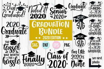 2020 Graduation Bundle, 2020 Graduate, 2020 Senior