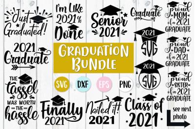 2021 Graduation SVG  Bundle   2021 Graduate Cut Files