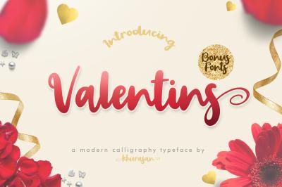 Valentins Script + Bonus 2 Font