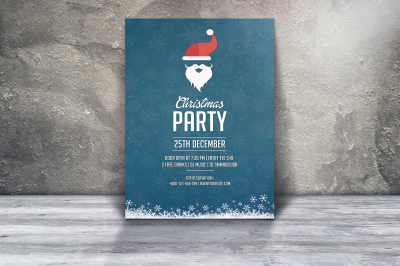 Santa Christmas Flyer Template