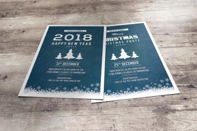 New Year & Christmas Party Flyer | Facebook Timeline