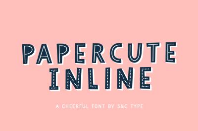 Papercute Inline Font Pack